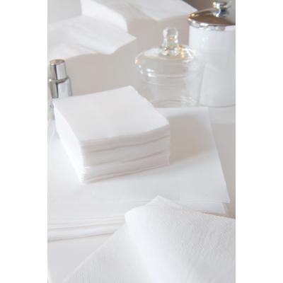 SERVIETTE BLANCHE OUATE COCKTAIL 20X20 LOT DE 100